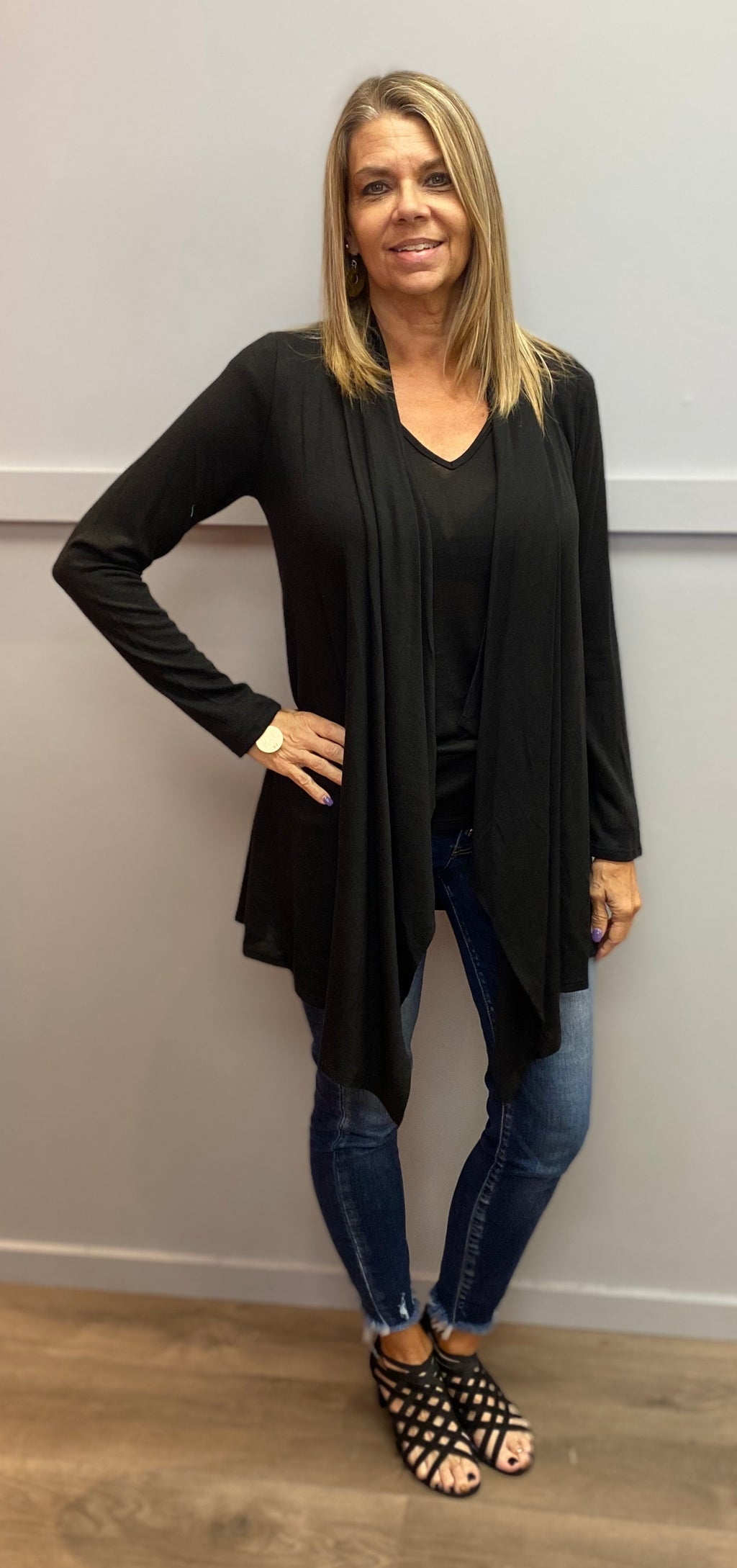 Black Cardigan/Tank Set