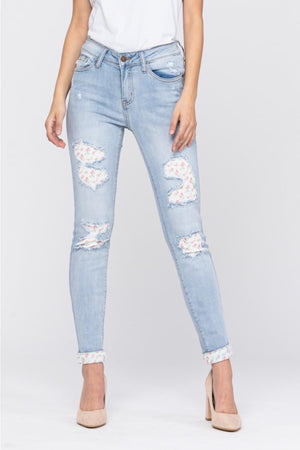 Judy Blue Floral Patch Jeans