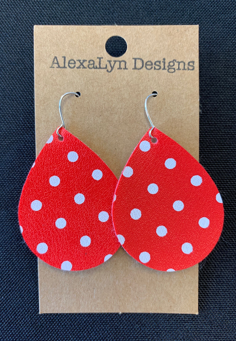 Red Polka Dot Earrings