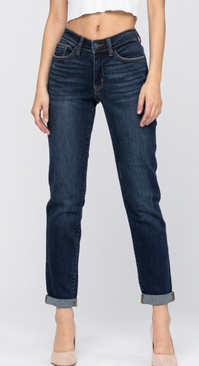 Judy Blue Relaxed Slim Fit Mid Rise Jeans