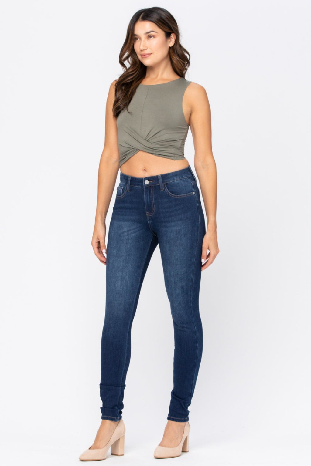 Judy Blue Dark Wash Thermal Jeans