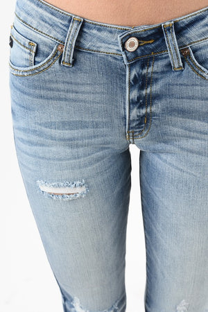 KanCan Light Wash Distressed Jeans