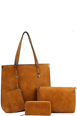 """The Emilie"" Mustard Four in One Tote Purse"