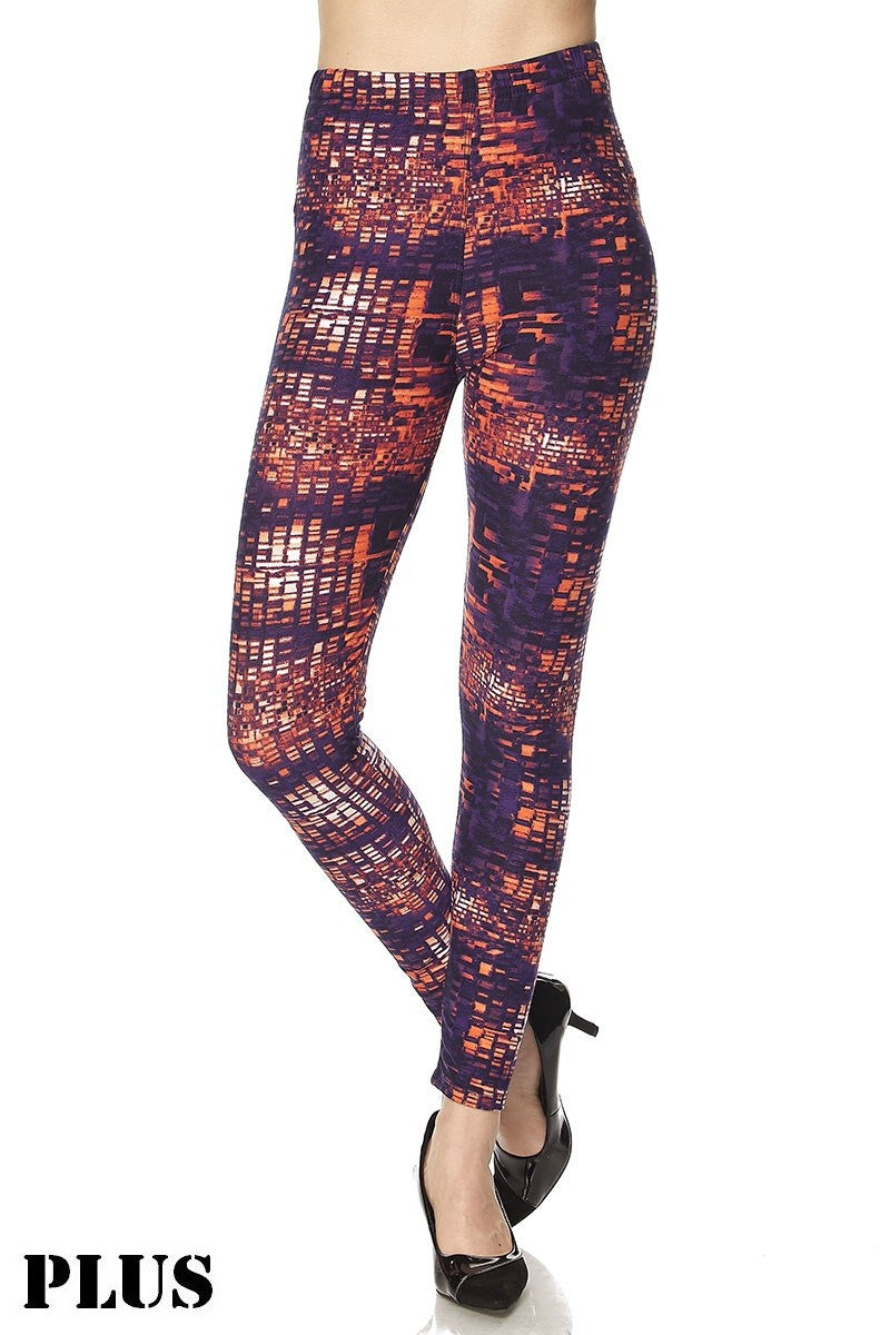 Purple Square Mosaic Legging (Curvy)
