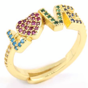 STUDDED LOVE RING | CODE: CH137 - Unique Brazilian Jewelry (4101198413894)