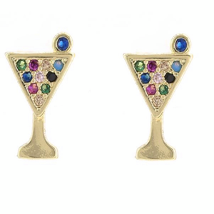 18K GOLD PLATED MARTINI EARRINGS | CODE: CH163 - Unique Brazilian Jewelry (4119333601350)