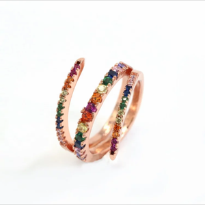 RAINBOW TURNS ROSE GOLD RING | CODE: CH151 - Unique Brazilian Jewelry (4101369659462)