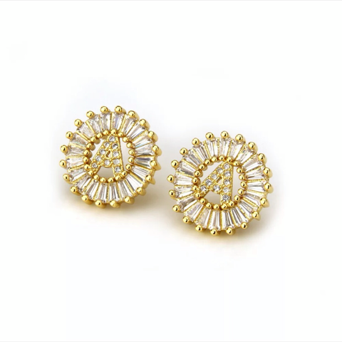 Mandala Letter Earrings A - Z | 18K GOLD PLATED - Unique Brazilian Jewelry (4364770246731)
