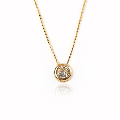 LARGE STUD NECKLACE | 18K Gold Plated