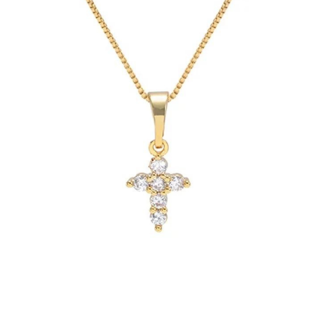EXTRA SMALL CROSS NECKLACE | 18K Gold Plated