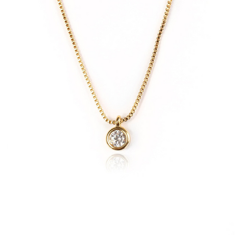 SMALL STUD NECKLACE | 18K Gold Plated