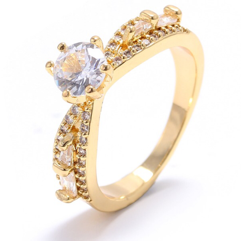 SOLITAIRE RING | 18K Gold Plated - Unique Brazilian Jewelry (4510700077131)