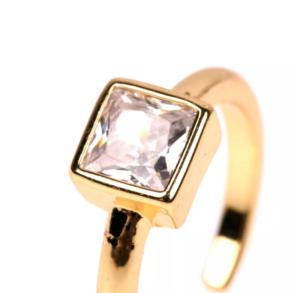 SQUARE ADJUSTABLE RING | 18K Gold Plated (4682932191307)