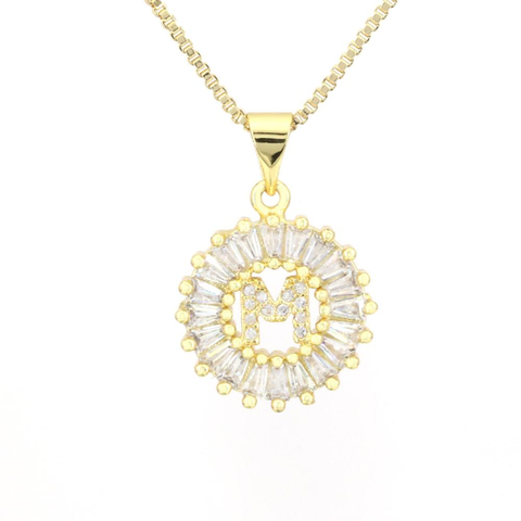 Small Mandala Letter Necklace A - Z | 18K GOLD PLATED - Unique Brazilian Jewelry (4495670149195)