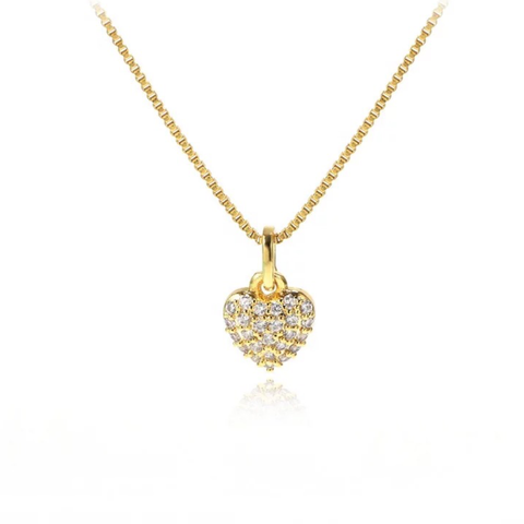 SMALL HEART NECKLACE | 18K Gold Plated (4698112819275)