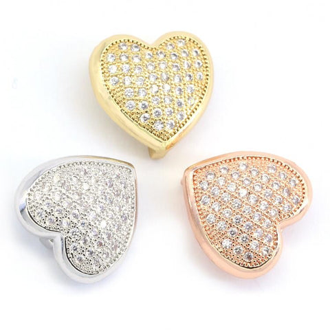 STUDDED HEART CHARM LIFE COLLECTION - Unique Brazilian Jewelry (4507124432971)