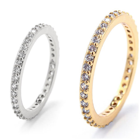 STUDDED ROUND RING | 18K Gold & White Rhodium - Unique Brazilian Jewelry (4510873452619)