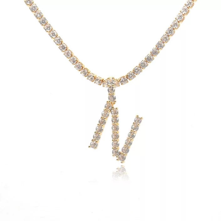 Trend Letter Necklace A - Z | 18K GOLD PLATED (4676192206923)