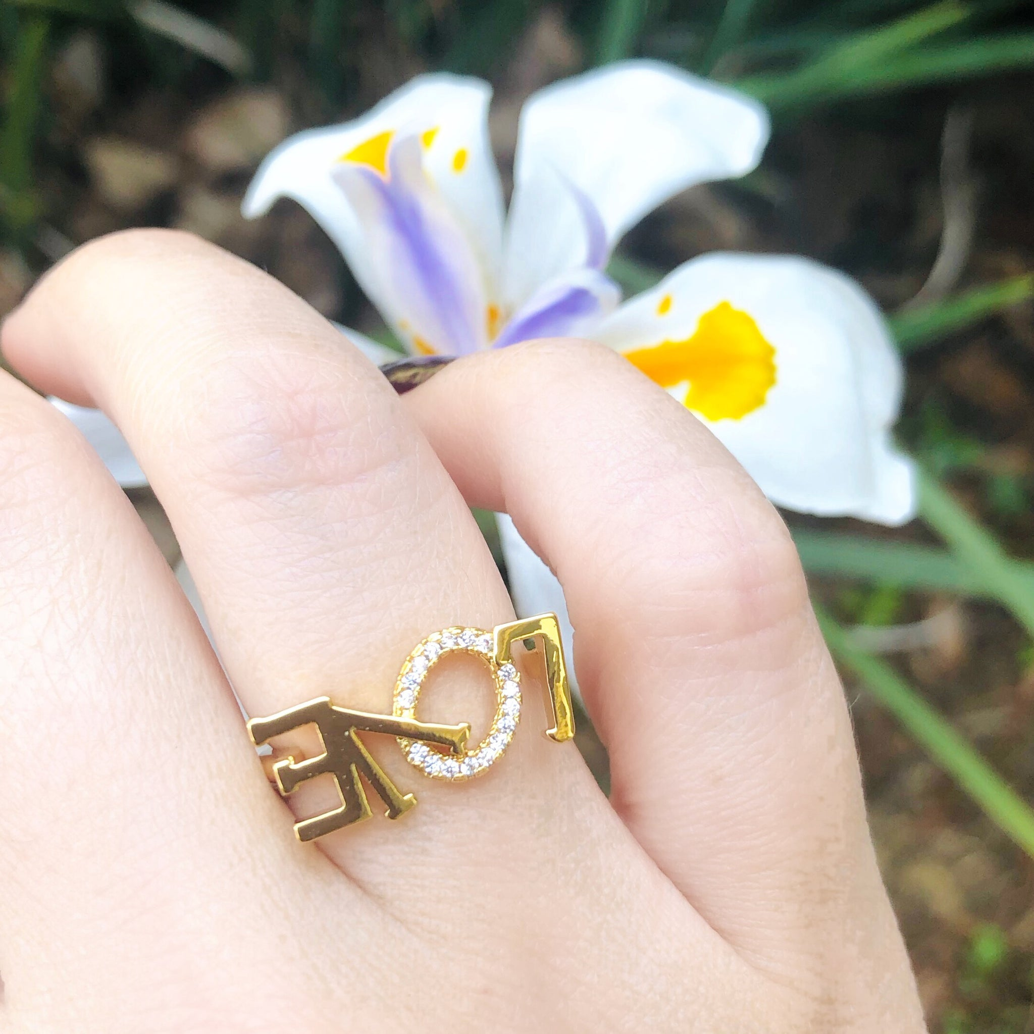 STUDDED LOVE RING | 18K Gold - Unique Brazilian Jewelry (4510824005707)