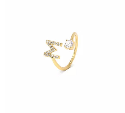 Letter Ring A - Z | 18K GOLD PLATED