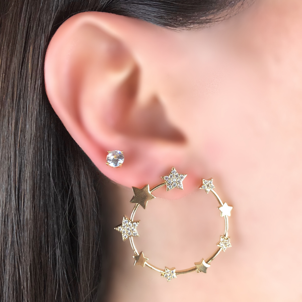 STAR 💫 EARRINGS | CODE: UN206 - Unique Brazilian Jewelry (4478922227787)
