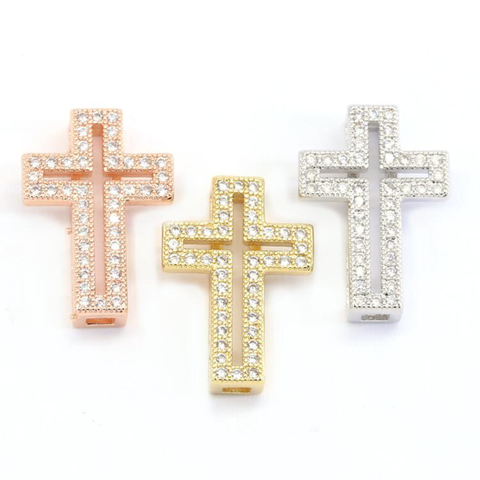 STUDDED CROSS CHARMS LIFE COLLECTION - Unique Brazilian Jewelry (4507114078283)