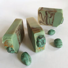 Load image into Gallery viewer, Turquoise Soap Gems, Handmade Artisan Soap Bar