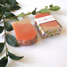 Load image into Gallery viewer, Tropical Sun Soap Bar with Calendula Infused Oils and Goat Milk