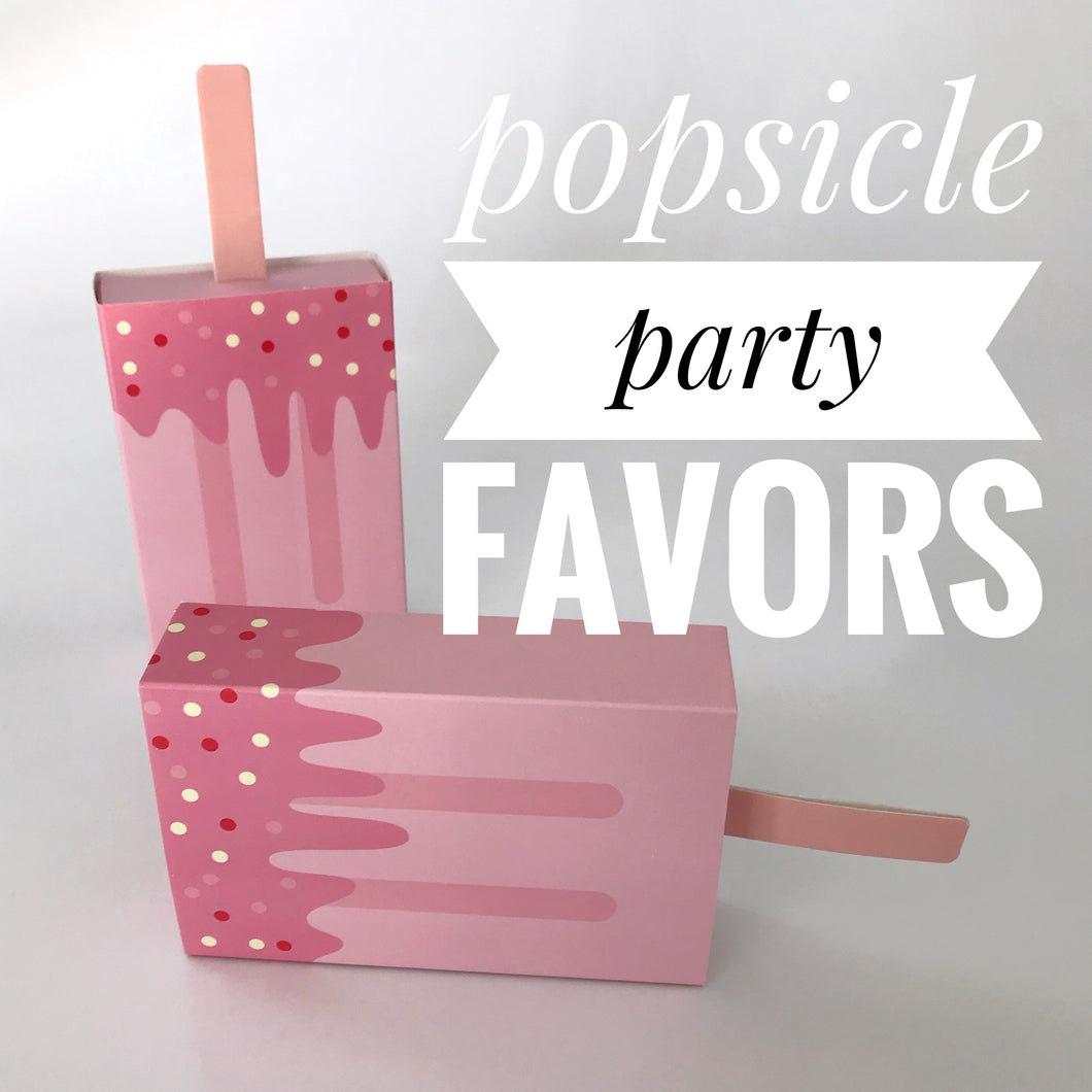 Popsicle Party Favors with Handmade Soap for Pool and Birthday Parties