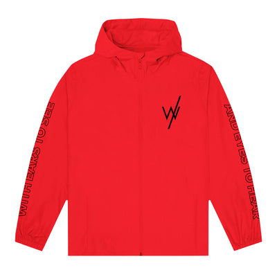 Barbed Wire Red Windbreaker Jacket