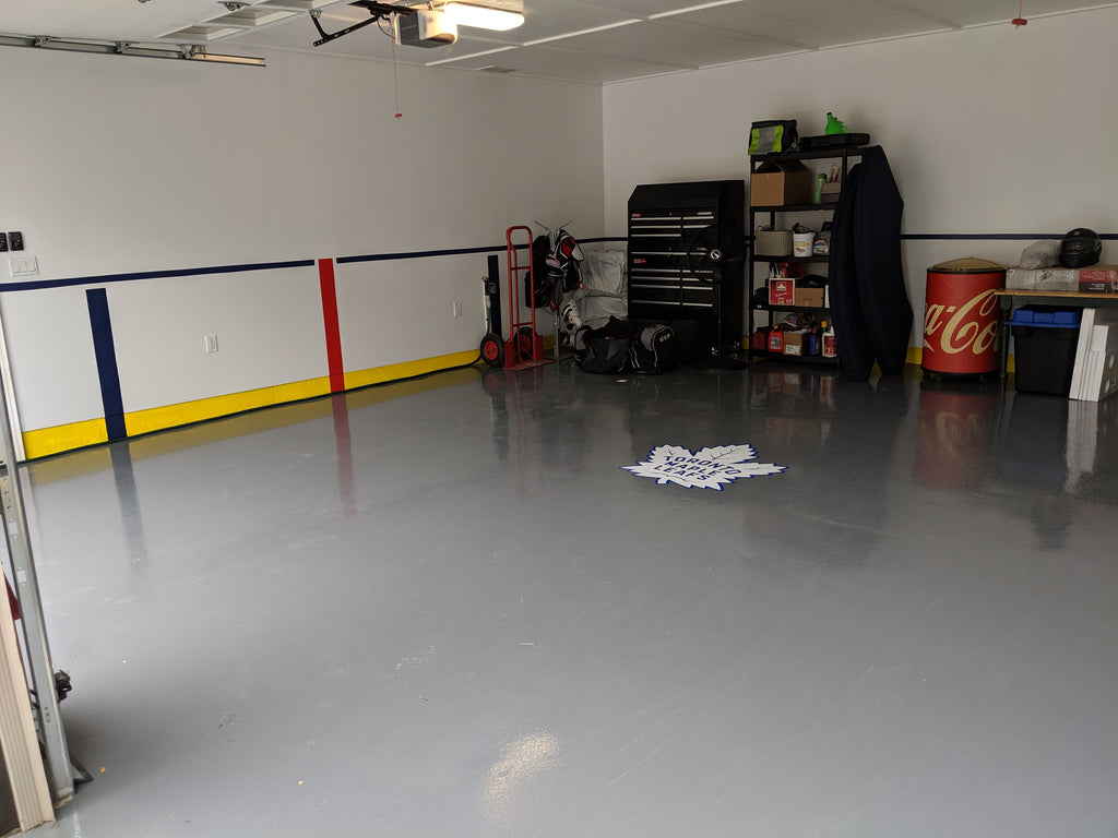 1-Car Garage 2 Coat Epoxy Flooring System