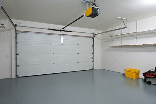 1-Car Garage In-Stock Grey Epoxy Paint Flooring – Starting at $995!