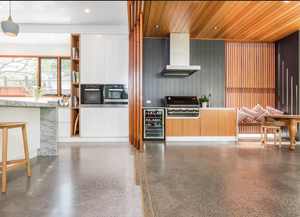 4-Car Garage Polished Concrete Flooring System