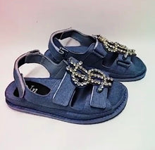 Load image into Gallery viewer, Denim $$$ Sandals