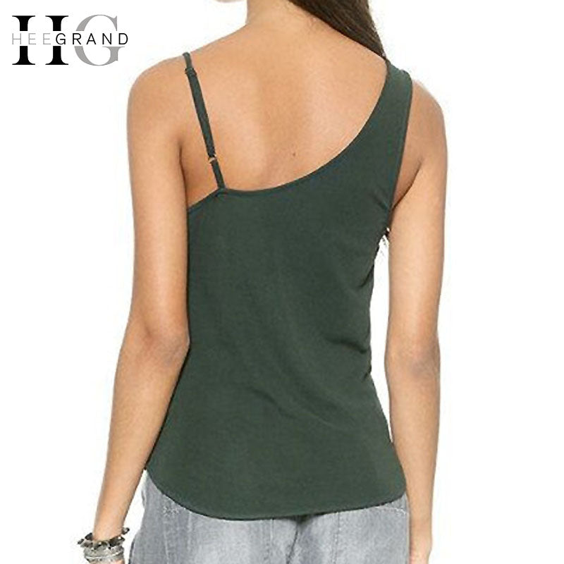 HEE GRAND Women Summer Fashion Solid Front V Neck Longline Tank Top.