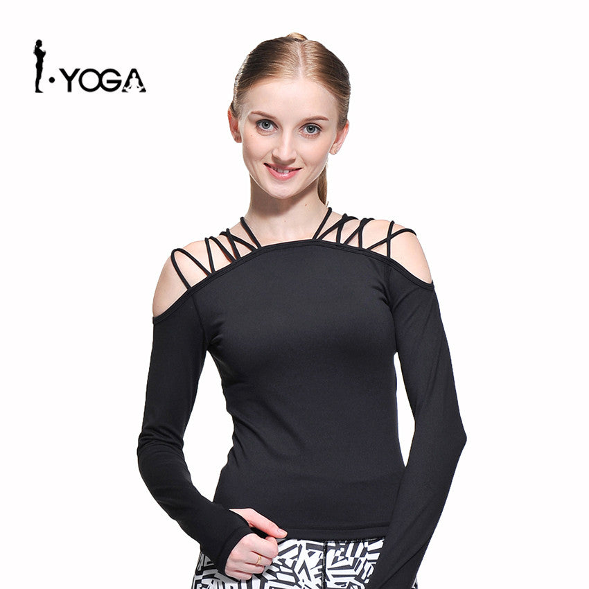 Sports Lacing Yoga Blusa Fitness Running Tanks Blouse Woman Gym Top T Shirts Outdoor Sportswear Clothing Jersey for women CXT011