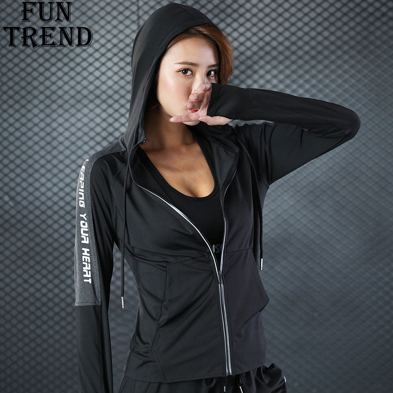 Jacket Coat Hoodies Women Sport Jacket Zipper Hoodie Sweatshirt Yoga Shirt Sport Shirt Sport Tracksuit Fitness Clothing Yoga Top