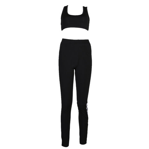 2018 Sports Wear Yoga Set Women Black Workout Clothes Exercise Clothing Dance Fitness Set Jogging Femme Sport Suits Tracksuit