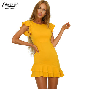 OT Ruffle Dress