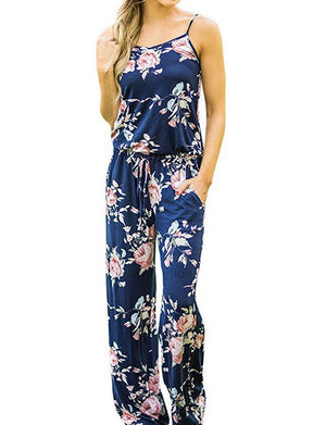 Hawaiian Floral Jumpsuit