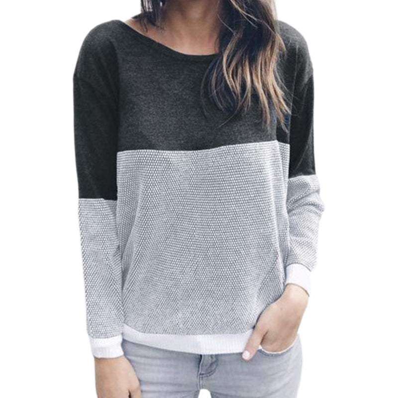 Female Reversible Hollow Out Knitted Sweater  Pullover Backless Long Sleeve.