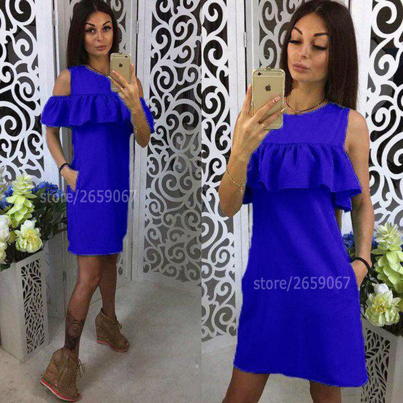 Tri Corner Ruffle Dress