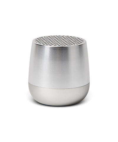 Lexon Mino TWS Pairable Bluetooth Speaker - Shiny Aluminium