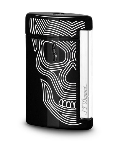 S.T. Dupont Minijet Lighter - Black Skulls