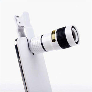 8X 12X Long-focus Mobile Phone Lenses Vulcan Mart Black 12X