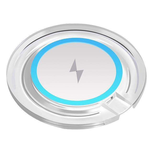 Adapter Receiver QI Wireless Charger Pad Vulcan Mart White