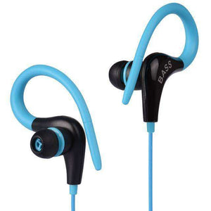 Ear Hook Sport Wireless Headphones Vulcan Mart Blue