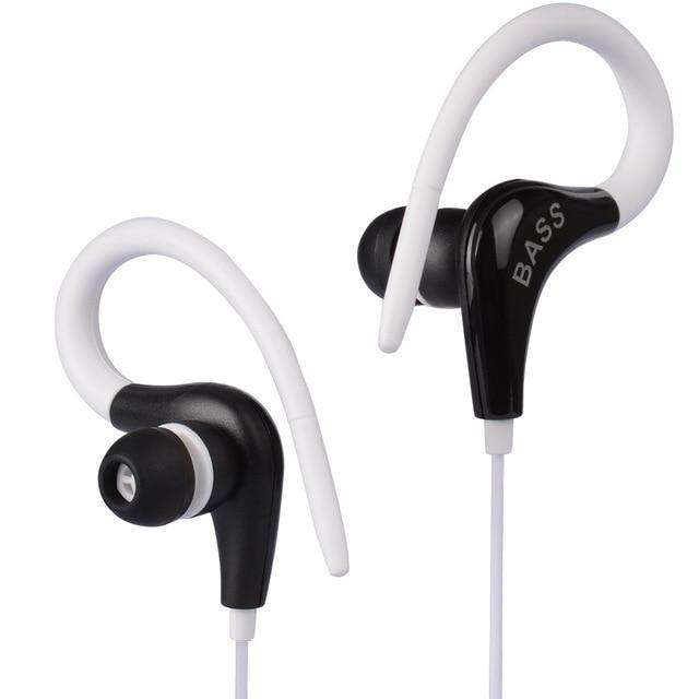 Ear Hook Sport Wireless Headphones Vulcan Mart White