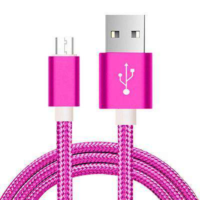 Fast Charging USB Cables Vulcan Mart Rose Red 0.25m