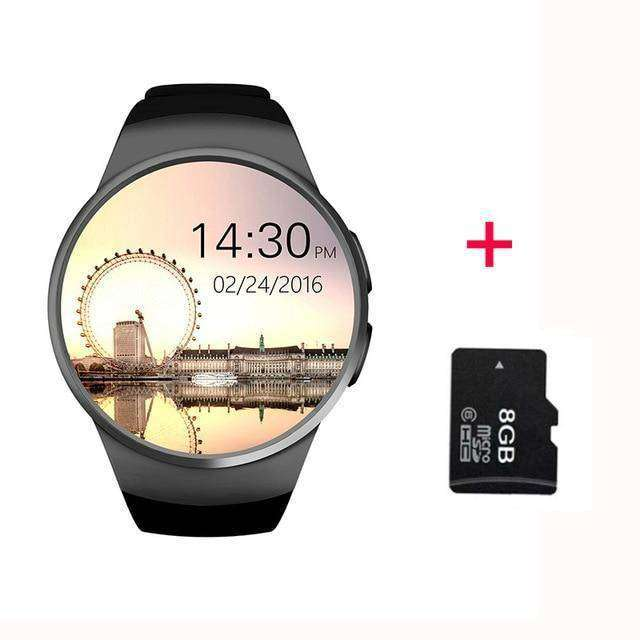 Full Screen Support SIM TF Card Smartwatch Vulcan Mart black 8GB
